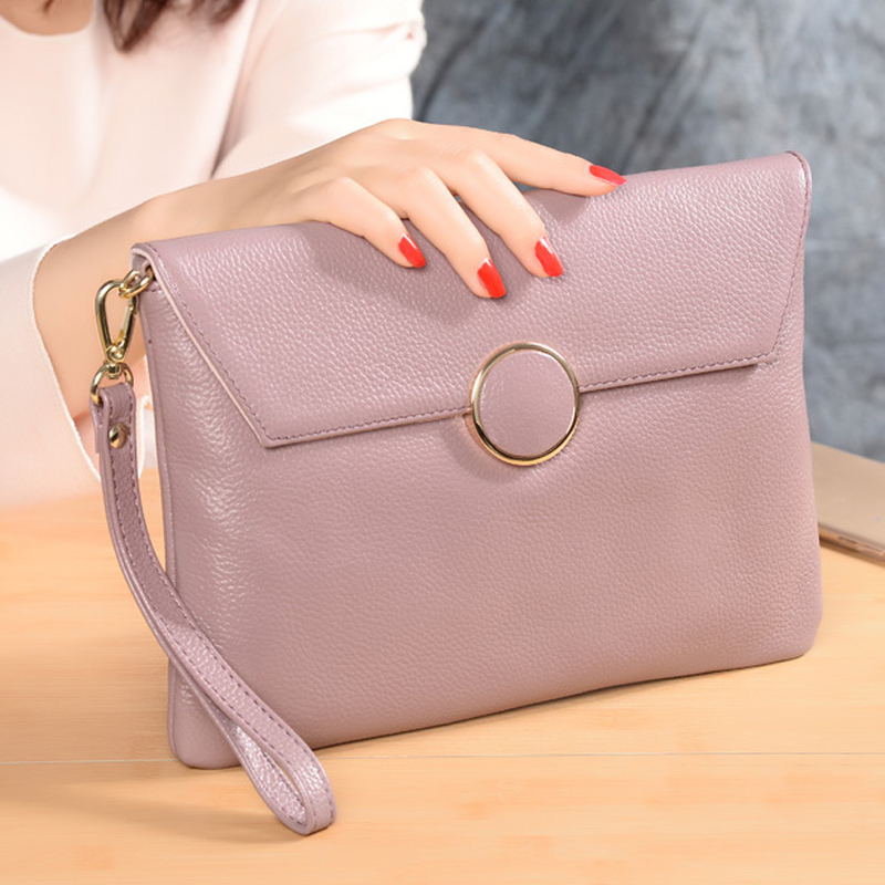 Women s Clutch Bags for women Genuine Leather Hand Bag female Money Wallet Ladies Party Clutch