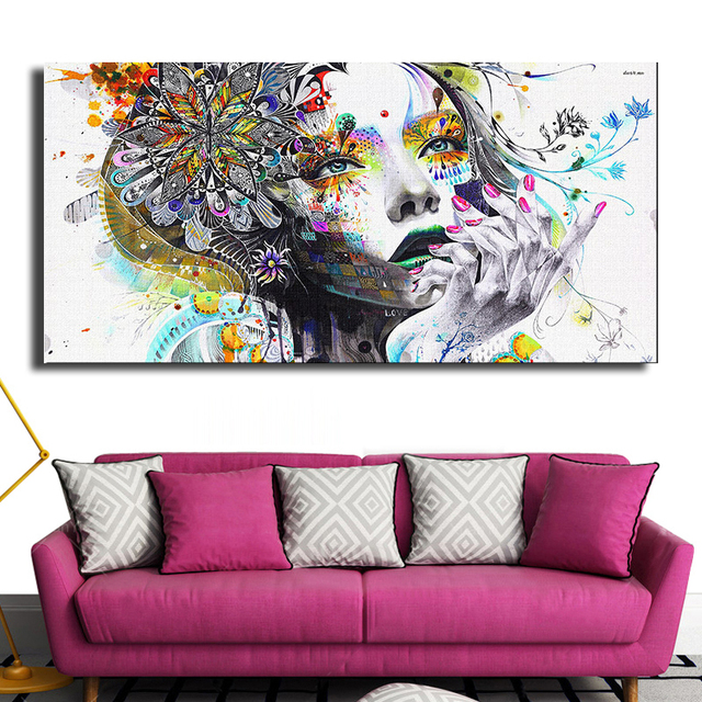 korean modern furniture dpvl. dp artisan modern wall art girl with flowers oil painting prints on canvas no frame korean furniture dpvl