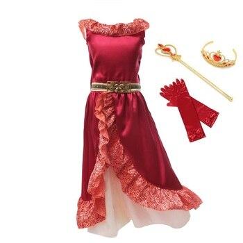 f7b81a18a Chicas vestido Elena ropa de verano sin mangas Princesa Elena de Avalor  Cosplay disfraz para niñas niños fiesta de cumpleaños de fantasía