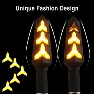 Image 5 - 4 قطعة LED بدوره إشارات للدراجات النارية تدفق المياه وقف إشارة بنيت التتابع الوامض دراجة نارية السهام انحناء ضوء الفرامل المتعري