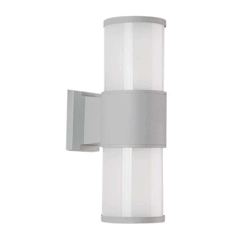 DONWEI Открытый водонепроницаемый E27 светодиодный настенный светильник крыльцо загорается вверх вниз двухголовый алюминиевый IP65 настенный светильник для балкон, коридор забор