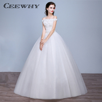 CEEWHY Real Picture Luxury Crystals ball Gown Wedding Dress Boat Neck Bridal Dress Robe De Mariee Mariage 2017 Wedding Gown