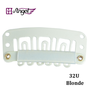 Image 3 - 6bags 6000pcslot 32mm Hair Extension With U Tip Snap Metal Clips with silicone back  Black,Blonde,Brown Optional
