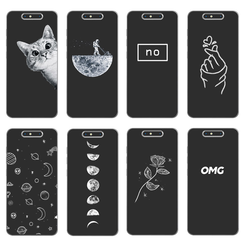 Soft Silicone For ZTE Blade V8 Case Cover Painting For ZTE Blade V 8 Pattern Matte Phone Cases Flower Cat Funda