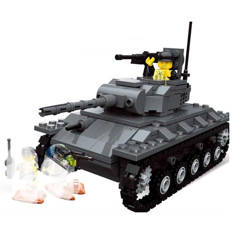 La guerra mundial 2 WW2 helicóptero de tanque camión M24 soldado militar del SWAT de bloques de construcción cifras juguetes Compatible Legoings