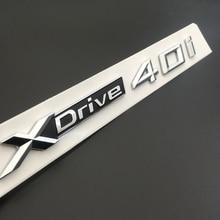 2pcs free shipment Emblem Badge Decal Rear Chrome for BMW XDrive 40i X5 X6 E24 E63 E64 Hybrid OEM Quality for audi a8 a8l emblem rear chrome oem quality 4e0853741a2zz