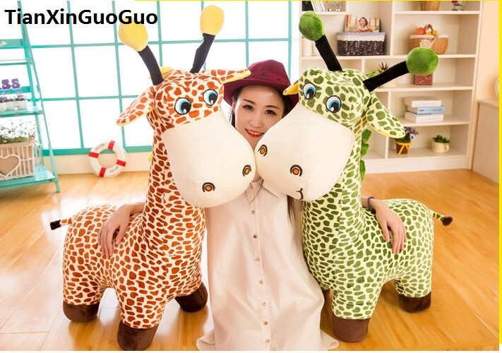 new arrival large 95cm cartoon giraffe plush toy soft doll throw pillow birthday gift w0328 stuffed animal plush 80cm jungle giraffe plush toy soft doll throw pillow gift w2912