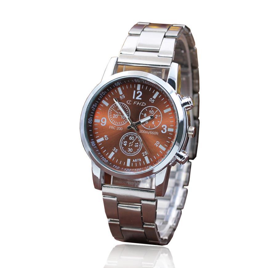 TZ#501ステンレススチールスポーツクォーツアワーリストアナログ時計メンズウォッチトップブランドの高級自動機械式送料無料アナログ時計