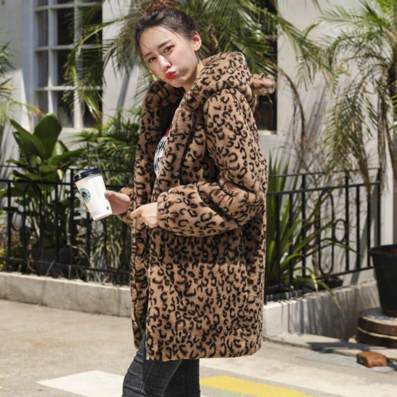 Leopard En Survêtement Vestes Chaud 1 2 Hiver Parkas Peluche Épaississement Parka Veste Print Manteau Fourrure De D'hiver Femme leopard Femmes Mode Léopard a4qTq