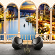 Custom Photo Wallpaper Mural Wallpaper Venetian Mediterranean 3D 3D Super HD TV Backdrop Wall papel de parede 3d wallpaper custom league of legends wallpaper 3d game photo wallpaper boys bedroom bar tv backdrop 3d bricks wallpaper ashe frost archer