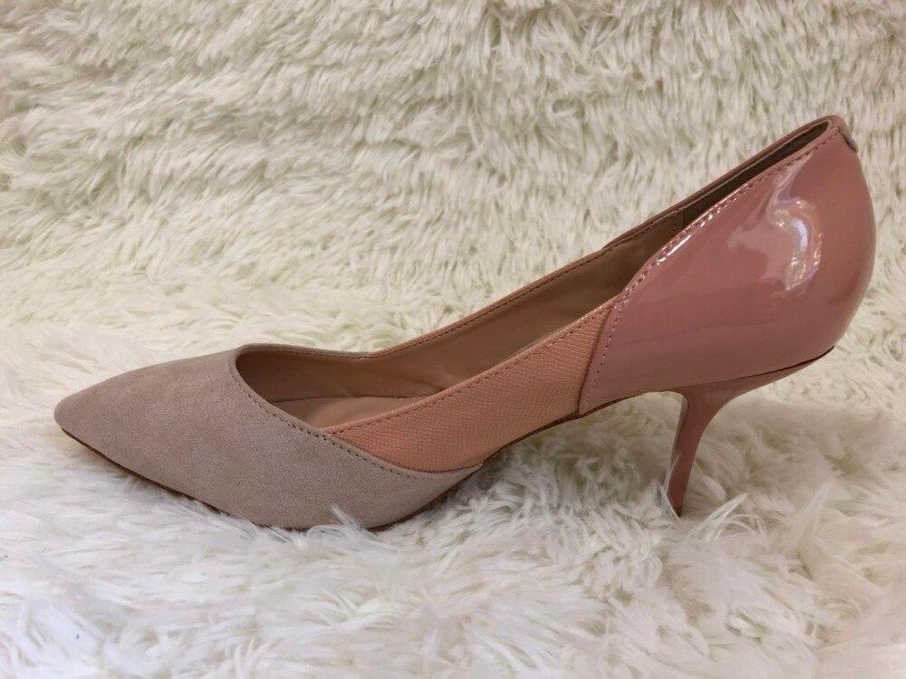 MAYA ROSSO PINGDI 2018 Donne sexy pompe sottili tacchi alti scarpe a punta scarpe per le donne casual o partito pompe scarpe