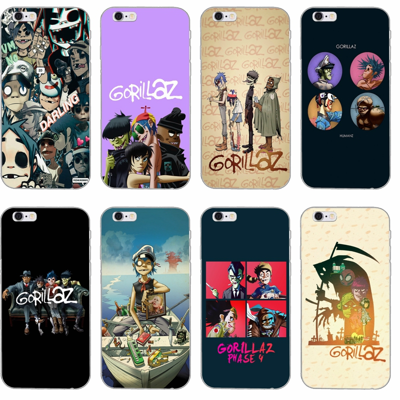 US $1 99 |Gorillaz silicone TPU Soft phone case For Xiaomi Mi 6 A1 5 5s 5x  mix max 2 Redmi Note 3 4 5 5A pro plus-in Half-wrapped Cases from