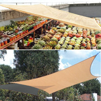 Waterproof Nylon Tent Sunshade Sail Garden Patio Wearproof Awning Mesh Patio UV Shield Netting Canopy Garden Supplies Tools