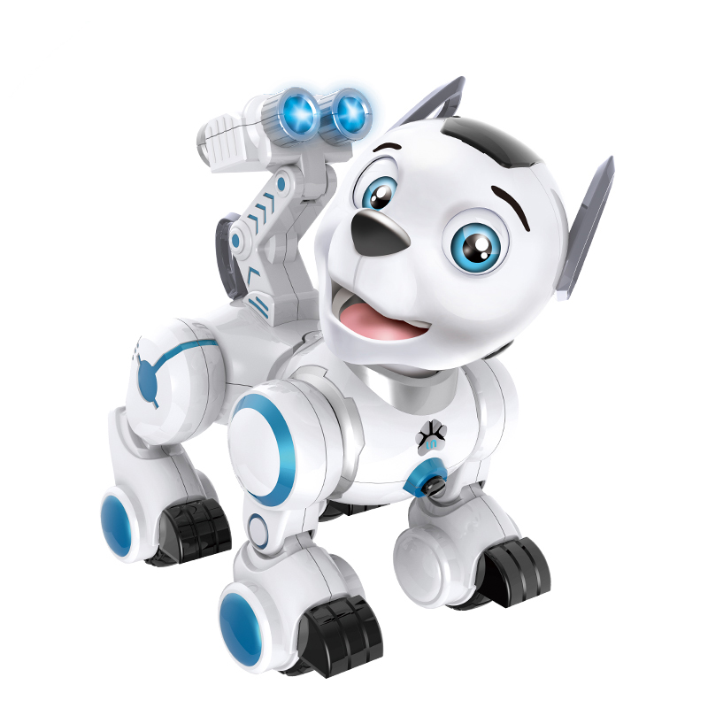 Robot RC inteligente patrulla simulación perros caminar y bailar Robots con luz de música excelente regalo para niños Hobby juguete