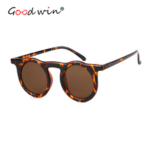 Good Win Shades For Women Luxury Brand Round Vintage Retro Womens Sunglasses Flat Top Female Sun Glasses Leopard Frame