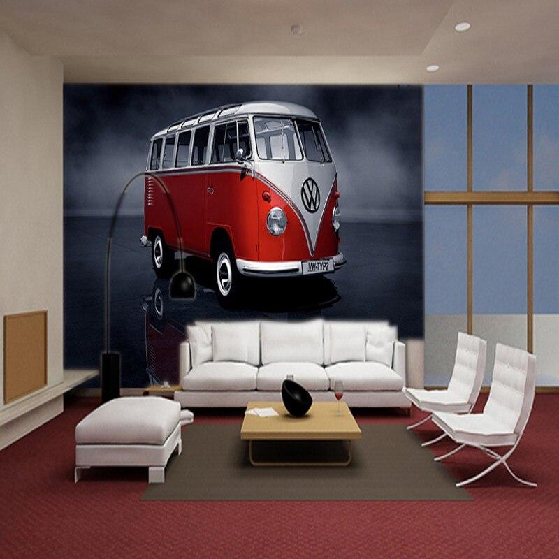 Benutzerdefinierte wandbild 3D Volkswagen auto tapete schlafzimmer ...