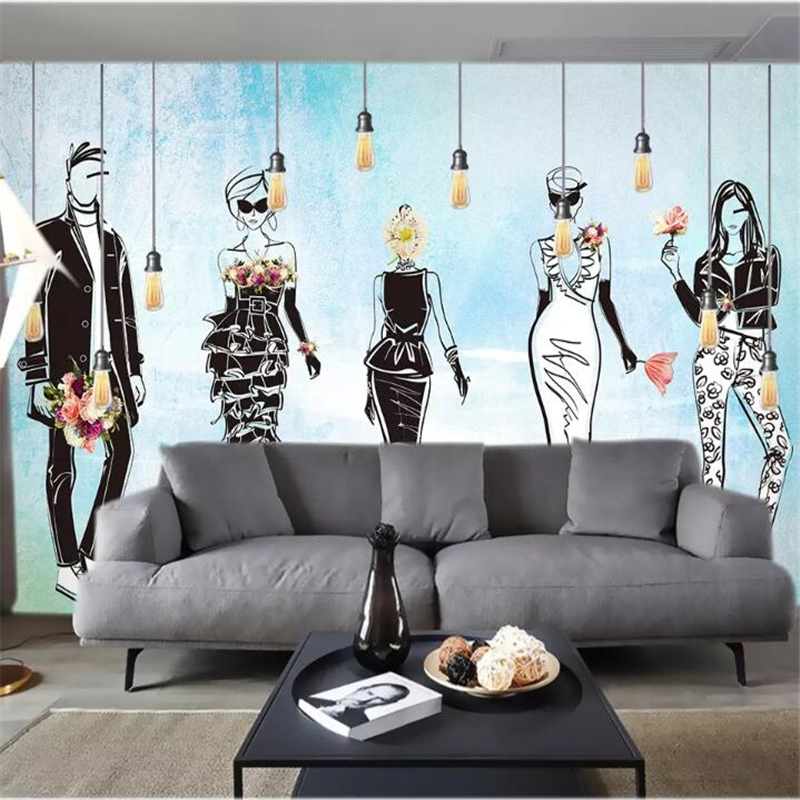 Wellyu Papel De Parede Custom Wallpaper Nordic Minimalist Aesthetic Art Clothing Beauty Anime Watercolor Tooling Background Wallpapers Aliexpress