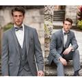 2016 Custom Made padrinhos cinza claro smoking do noivo ternos de casamento melhor dos homens Party terno de negócio