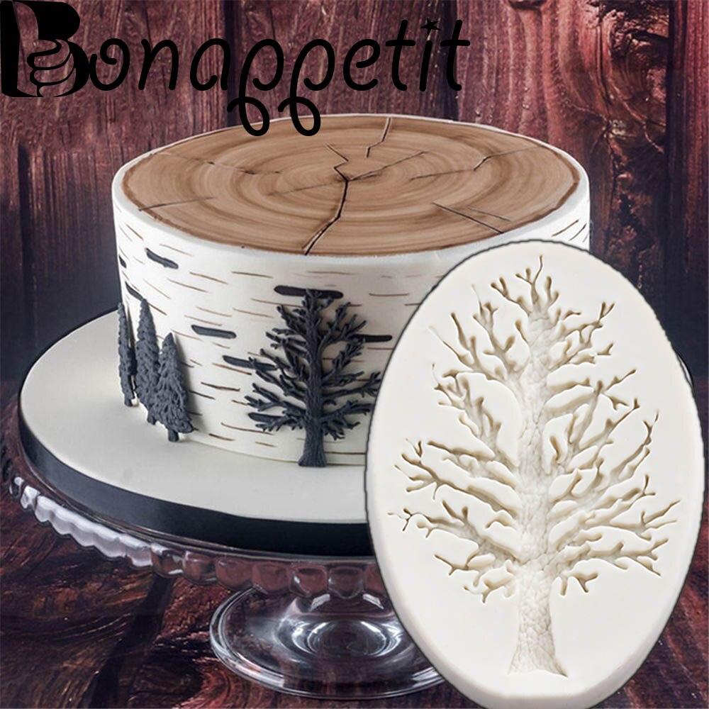 Tree Silicone Sugarcraft Cake Fondant Mold Chocolate Baking Decorating Mould DIY