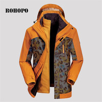 ROHOPO Windproof Coat Waterproof thickness jacket men soft shell liner camouflage windbreaker fleece inner windproof jackets