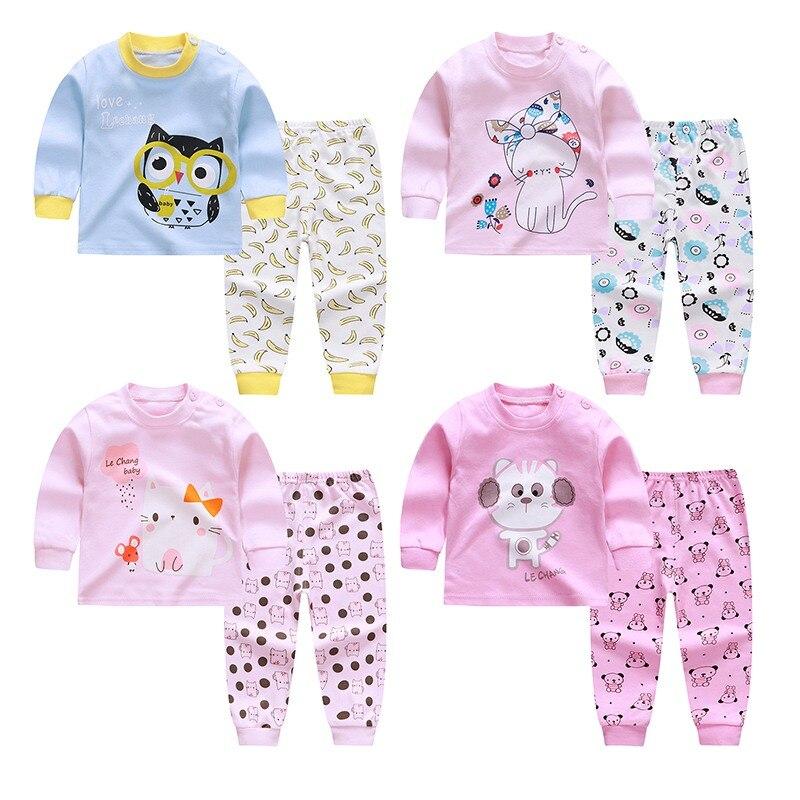 Winter Children\'s Pajamas Unixsex Pajamas Set Cotton Sleepwear Pyjamas Kids Baby Pajamas Set Underwear Clothing Suits d