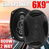 2Pcs 6x9'' 800W 2 Way Car Coaxial Speaker HiFi Loud Speaker Full Frequency Car Speakers and Subwoofer Car Auto Audio Tweeter