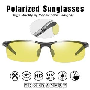 Image 4 - Top Aluminum Magnesium Photochromic Sunglasses Men Driving Polarized Glasses Day Night Vision Driver Goggles gafas oculos de sol