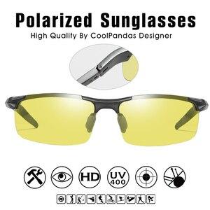 Image 4 - Top In Alluminio Magnesio Fotocromatiche Occhiali Da Sole Degli Uomini di Guida Occhiali Polarizzati Giorno del Driver di Visione notturna Occhiali gafas oculos de sol