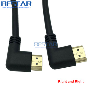 Image 5 - Left or Right Angled HDMI 2.0 Male to HDMI Right Left Elbow Male extension Cable 10cm 50cm 1m, HDMI 2.0V angle cable 4K*2K @60HZ