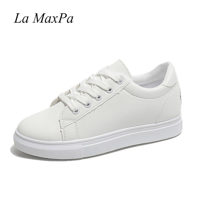 Newest Designer Sneakers Lace-up White Trainers Leather Flats Sneaker Lady Classic Casual Shoes Embroider Women's Vulcanize Shoe