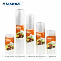 ANIMORE envasado al vacío Rolls12x500 15x500 20x500 25x500 28x500 sellador por calor al vacío bolsas de ahorro de alimentos bolsas de almacenamiento de alimentos FB-01