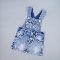 Chumhey Детский сарафан для маленьких девочек на подтяжках юбки летние джинсовые платья джинсы для девочек комбинезоны платье детская одежда