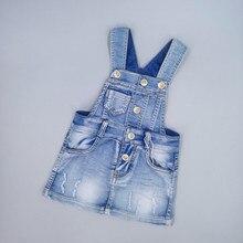 Chumhey 9 months to 7 years Old Baby сарафан для малышей платье на бретельках для девочки летние джинсовые джинсы для девочек платье-комбинезон детская одежда bebe/одежда
