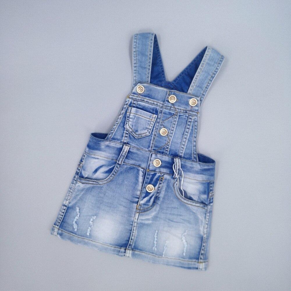 Chumhey Sundress Saias Suspender Verão Da Menina Da Criança Vestidos Jeans Meninas Do Bebê Macacão Jeans Vestido Crianças Roupa dos Miúdos Roupas