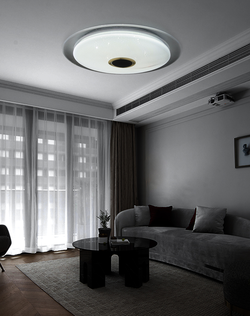 HTB1ZXs7aEGF3KVjSZFmq6zqPXXaN Modern LED Ceiling Light Bluetooth Music RGB Dimmable Lamp 36W 40W APP Remote Control AC 220V 240V Colourful Party Bedroom