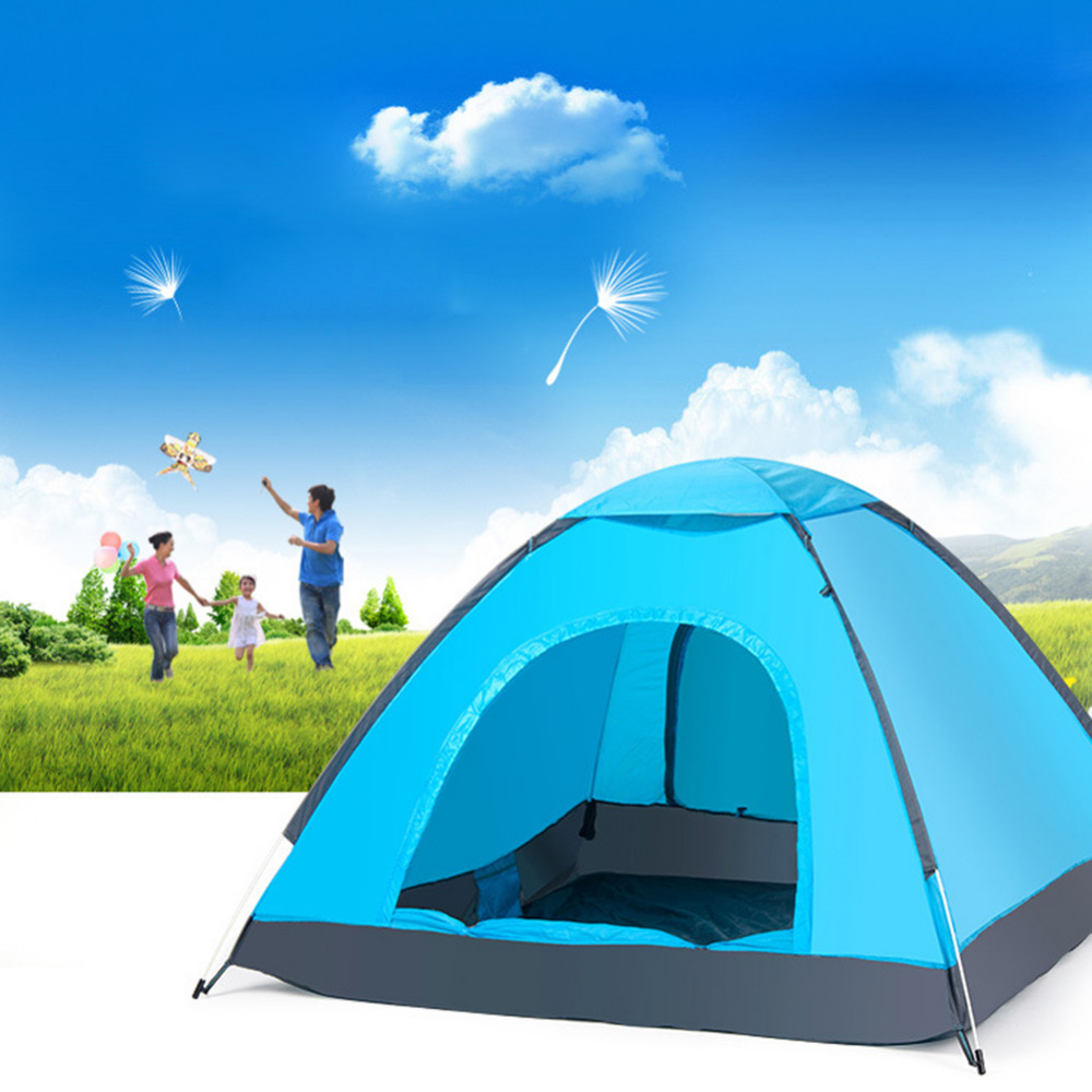Hand Throwing Quick Open Automatic Tent Waterproof Camping Tent Single Layer Portable Fishing Sunscreen Anti-UV Awning Tents ennjoi fully automatic sun shade tent quick open pop up camping tent beach awning fishing tent outdoor camping hiking beach tent
