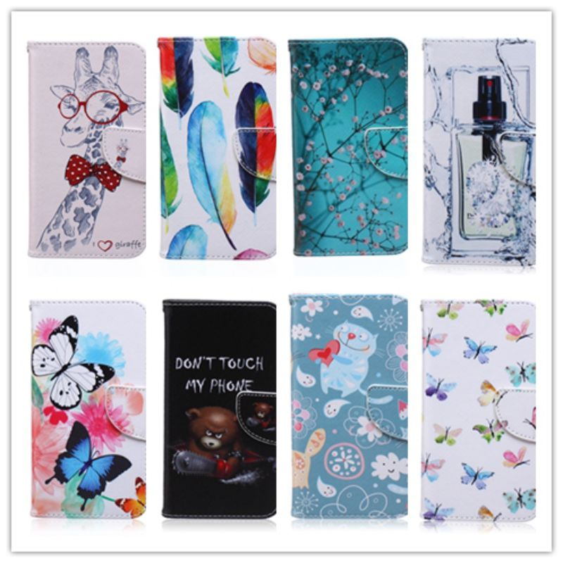 Cute font b Cartoon b font Butterfly Plum Blossom Leather For Samsung S5 Flip Cover Samsung