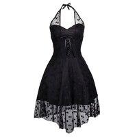 Lace Dress Summer Evening Party Women 1950 S Black Casual Elegant Retro Plus Size Dresses Beach
