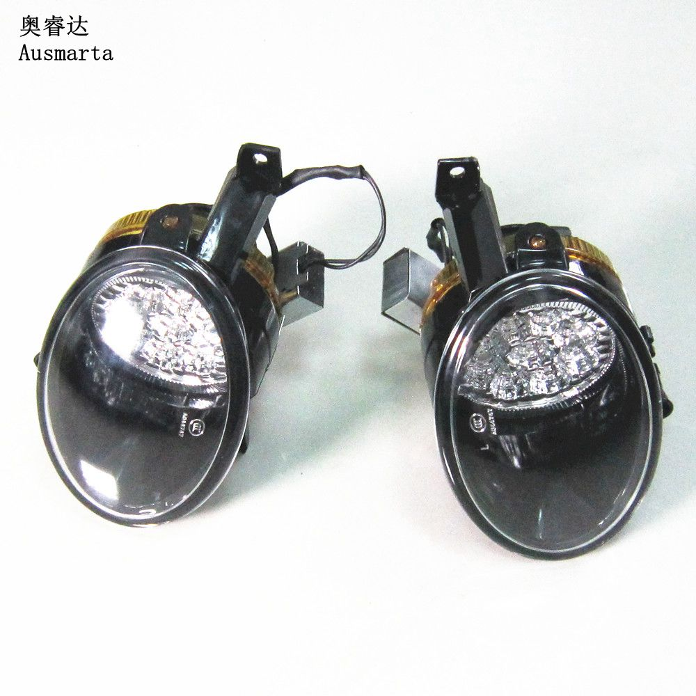 OEM Qty 2 Front LED Fog Light Lamp For VW Jetta Golf MK6 Tiguan Eos Caddy Seat Alhambra 5KD941699 5KD941700 tuke oem right front bumper fog lights for vw caddy jetta 6 golf mk6 eos touran tiguan 5kd 941 700 5k0 941 700 5kd941700