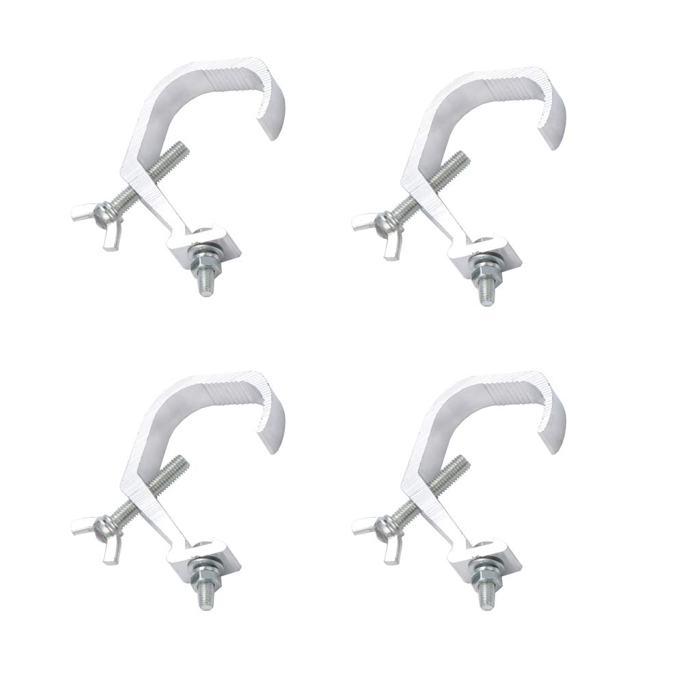 4 Pack Stage Light Clamp Hook, Aluminum Truss Clamp For Hanging Stage Light Par Light(Bear Weight 33lbs)