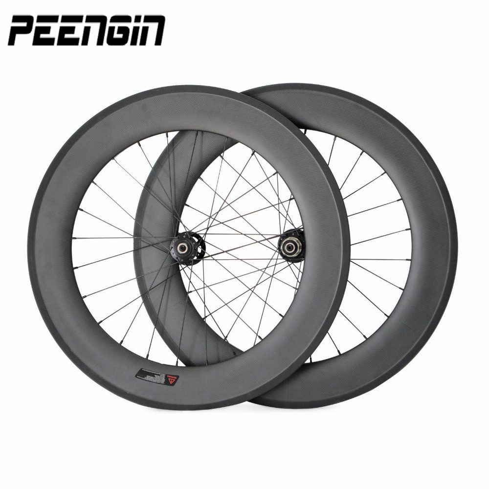 Full carbon fiber 700C road bike wheel 88mm without basalt brake surface clincher rim 25mm specific design for Ukrainian cyclist new design carbon wheel titanium material light and more safe 50mm clincher 700c