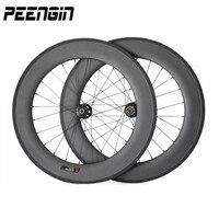 Full Carbon Fiber Road Bike Wheels 88mm None Of Basalt Brake Surface Clincher Rim 25mm Specifical