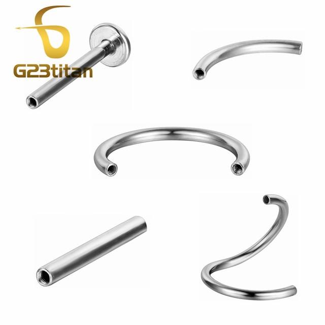 G23titan 10 Colors 3mm Square Zircon Balls Stainless Steel Internally Threaded Bananabells for Navel Ear Eyebrow Piercing 2