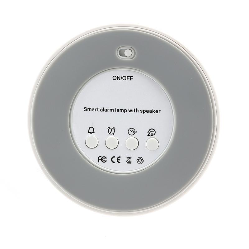 4 режима светодиодный сенсорный лампа ночник Беспроводной Bluetooth Hands-free Динамик аудио плеер с микрофоном для мобильного телефона (белый)