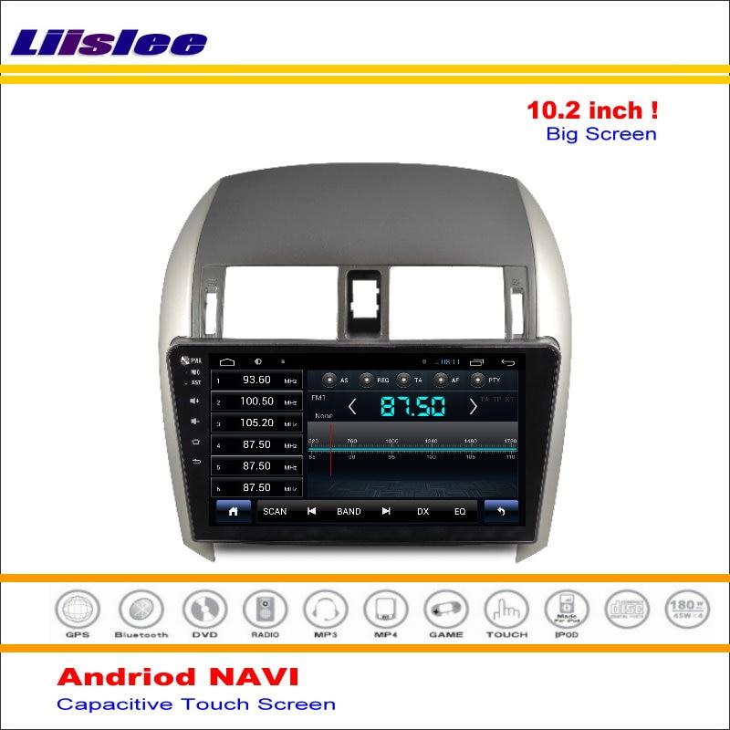 Top Liisle Android GPS NAV NVAI Navigation System For Toyota Corolla 2007~2013 Radio Stereo Audio Video Multimedia ( No DVD Player 3