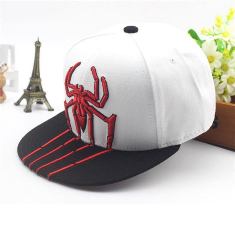 New Spider embroidery Children Snapback Caps Outdoor Sunhat KIds Boys Girls Baseball Hat gorras de beisbol Cool Hip Hop Hats bone para bordar