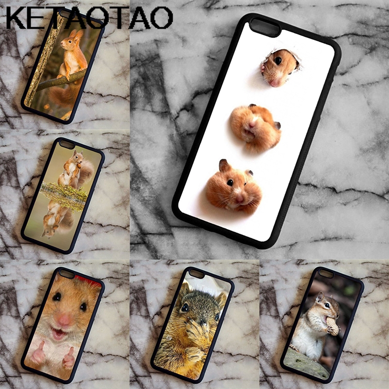 KETAOTAO Cute Hamster Animals Phone Cases for iPhone 4S SE 5C 5S 6S 7 8 SE X Plus XR XS Max Case Soft TPU Rubber Silicone