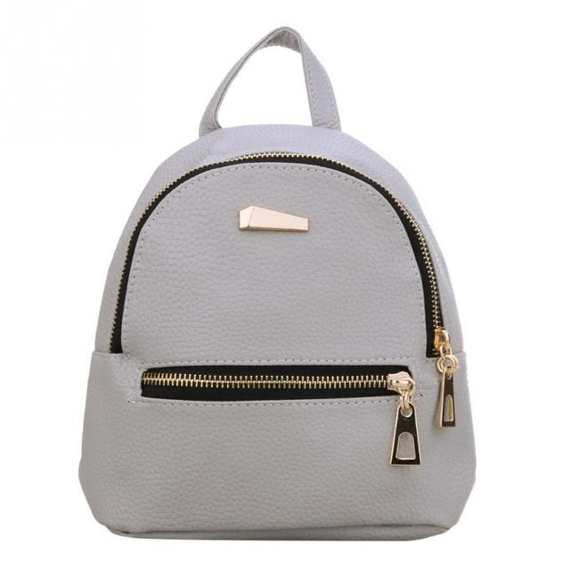 4928169809 Fashion Women s PU Leather Backpack Candy Color School Style Student Mini  Backpack For Teenage Girls
