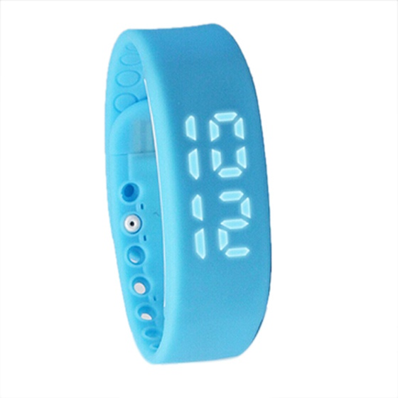 New Waterproof Movement Health Pedometer Sleep Monitoring Smart Bracelet Watches blue