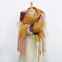 New Plaid Women Winter Scarves And Shawl Casual Scarf For Females Thick Warm Outerdoor Fashion Designer